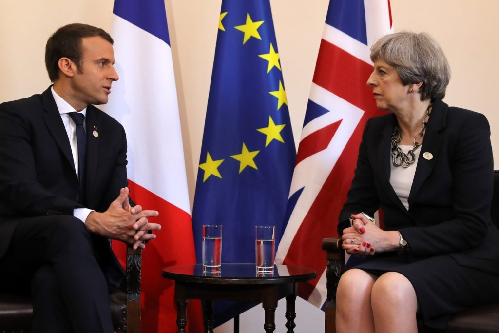 Sommet franco britannique theresa may et emmanuel macron for Chambre de commerce franco britannique londres