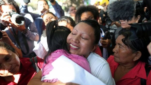 Teodora Vasquez libérée,