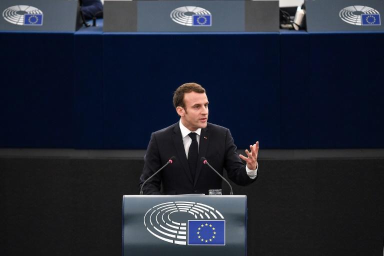 A Strasbourg, Macron souhaite une
